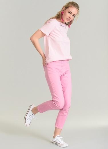 Agenda Renkli Mom Kalıp Pantolon Pembe